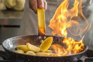 Flambe allows you to cook off the alcohol and keep the flavor.