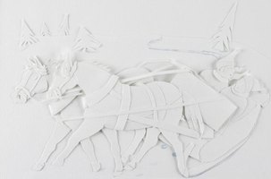 Paper sculptures can be two- or three-dimensional.