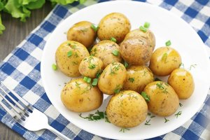 Potatoes can be quartered or whole.