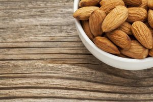 Almonds make a good heart-healthy snack.