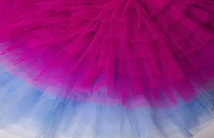 Tulle comes in many colors.