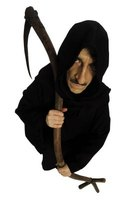 Make a simple grim reaper robe at home for Halloween.