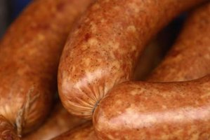 Beer and onions add depth of flavor to smoked kielbasa.