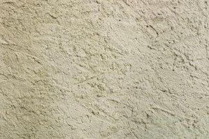 This stucco wall has a basic stucco finish.