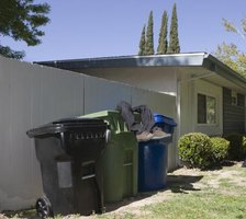 Secure lids and keep garbage cans far away from the house to prevent maggots.
