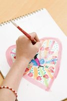 A wide variety of Bible-related heart crafts can entertain children of all ages.