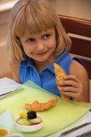 Breaded chicken tenderloins make ideal finger foods.