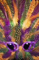 Purple, green and gold are the traditional colors of Mardi Gras.