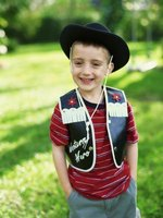 Make a quick and easy toddler's cowboy vest.