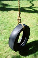A tire's opening provides a small target for quarterbacks to aim at.