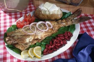 Fried, whole bullfish makes a great centerpiece.