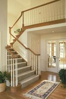 A stair runner is an attractive addition to a home.