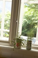 The slope on a window sill is important for preventing moisture buildup.