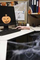 Create Halloween decor for your cubicle space.
