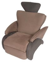 Recliner chairs come in fabric or leather finishes.