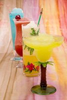 Virgin daiquiris have different colors depending on their ingredients.
