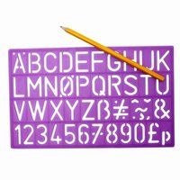 Stencils help to make letter size and style uniform throughout several uses.