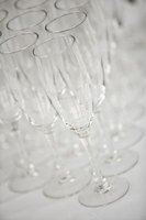 Decorate champagne flutes for a party or special occasion.