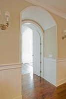 Arched doorways provide interesting transitions between rooms.