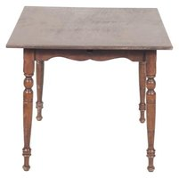 Antique or used table tops are an option for wall-mounted table tops.