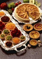 Fruit tarts typically require pre-baked pie shells.