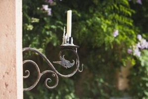 Wrought iron elements can decorate the interior or exterior of a home.