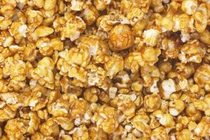 Caramel popcorn is quick and easy in the microwave.