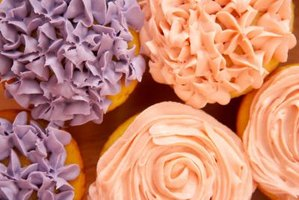 Impress your guests with an elegant cupcake display.