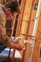 Rough-in plumbing refers to the initial hookup of pipes and fixtures with both city water and sewer.