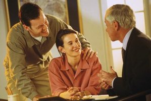 A couple meets with a financial advisor