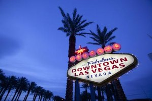 Find work in Las Vegas by networking and giving people your business card or resume.
