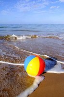 Beach balls usually feature three to six different colors.