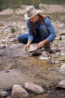 Panning for gold is fun for the whole family.