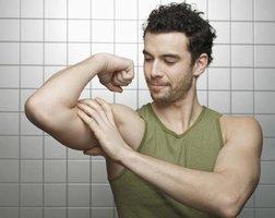 Use a curl bar to build your biceps.