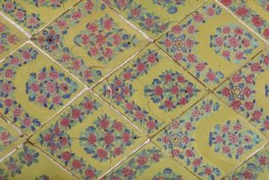 Brightly colored tiles were used to add charm and personality to a room.
