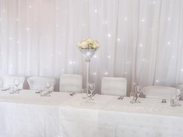Use strands of white lights to make your diamond party sparkle.