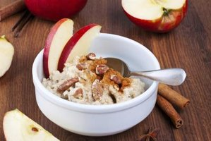 Add apples, nuts and cinnamon to spice up your oatmeal.
