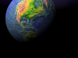 Concentrate on bringing out various aspects of the Earth in your 3-D model.