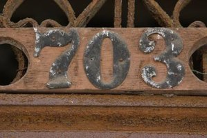 Give these old and tired-looking house numbers a metallic paint makeover.