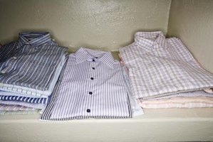Create a quilt from otherwise unusable old dress shirts