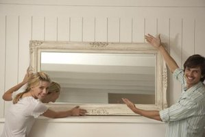 Use mirrors to decorate any room in your apartment or house.