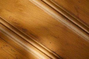 Keep oak baseboards clean to maintain shine.