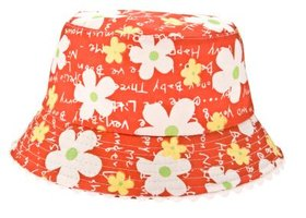 Use a stiff outer fabric and a soft lining to sew a fabric sun hat.