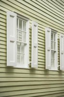 You can hang flower baskets, wreaths or other decorative elements from your exterior wall without damaging the vinyl siding.
