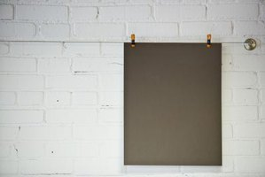 Chalkboard paint transforms an ordinary piece of wood into a canvas for creativity.