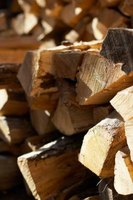 Firewood should be stacked in a criss-cross pattern for maximum air circulation.