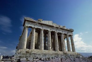 The Temple of Athena at Parthenon was constructed in the Doric architectural style.