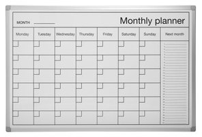 A perpetual calendar can be used month after month, year after year.