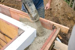 Concrete can come from the truck in a single pour.