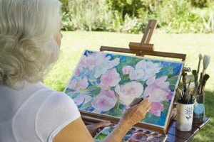 For some, painting with watercolors may be more enjoyable outdoors.
